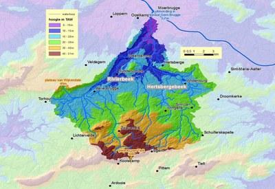 Kaart stroomgebied Rivierbeek