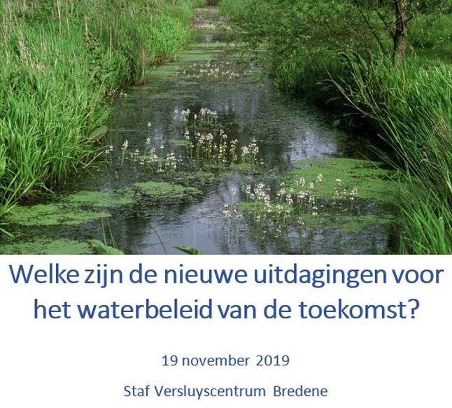 Workshop op 19 november 2019 voor bekkenoverlegstructuren IJzerbekken en bekken Brugse Polders