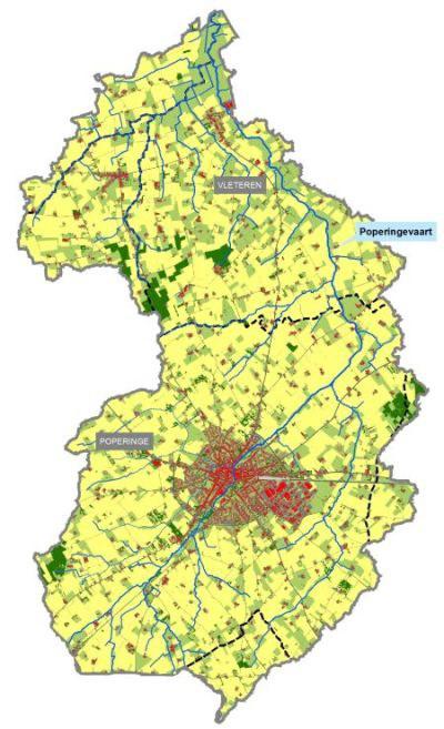 Poperingevaart - landgebruik