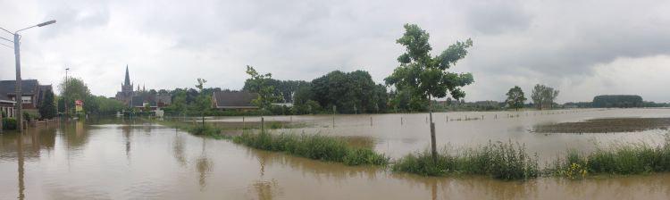 Wateroverlast Heulebeek Dadizele
