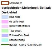 Molenbeek-Bollaak (legende kaart)