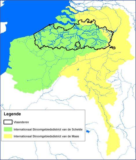 Stroomgebieden Schelde en Maas