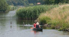 Roeien op het water